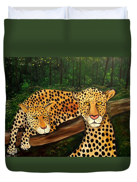 Don't Bother Me It's Naptime Duvet Cover by Lisa Aerts