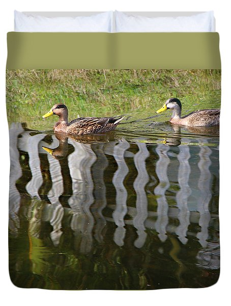 Don't Fence Us In Duvet Cover by Kathy M Krause