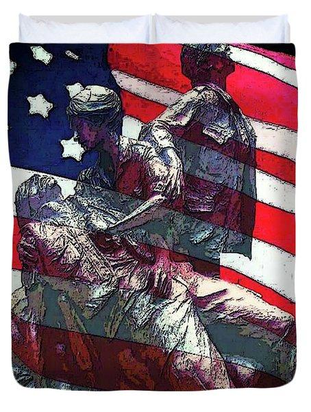 Don't Forget Our Nurses Duvet Cover