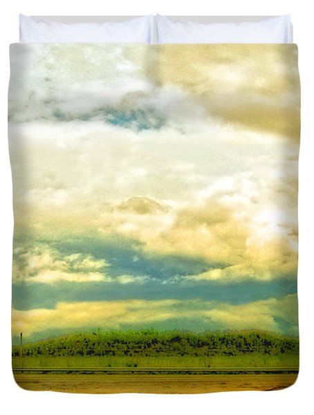 Don't Know Why There's No Sun Up In The Sky Duvet Cover