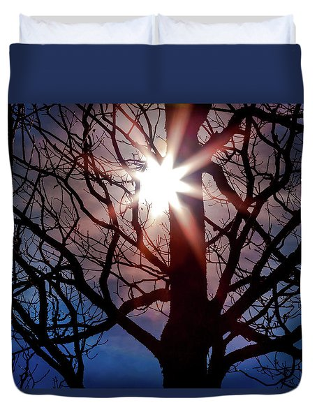 Duvet Cover featuring the photograph Don't Lose Sight Of It All by Karen Wiles