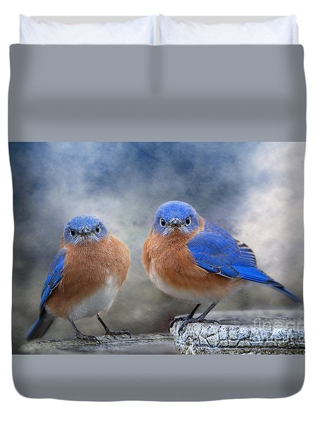 Duvet Cover featuring the photograph Don't Ruffle My Feathers by Bonnie Barry