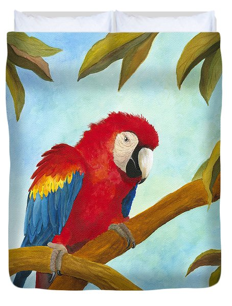 Dont Ruffle My Feathers Duvet Cover by Phyllis Howard