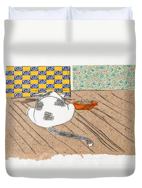Don't Touch Me Or I Will Eat You Too Duvet Cover
