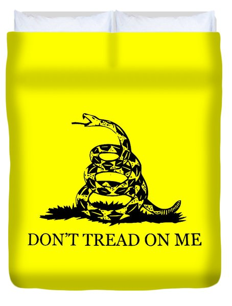 Don't Tread On Me Flag Duvet Cover by War Is Hell Store