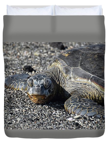 Duvet Cover featuring the photograph Don't Wake Me Up by Pamela Walton