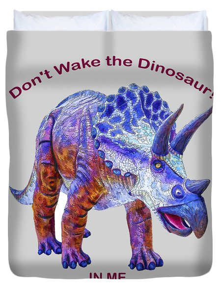 Dont Wake The Dinosaur Duvet Cover