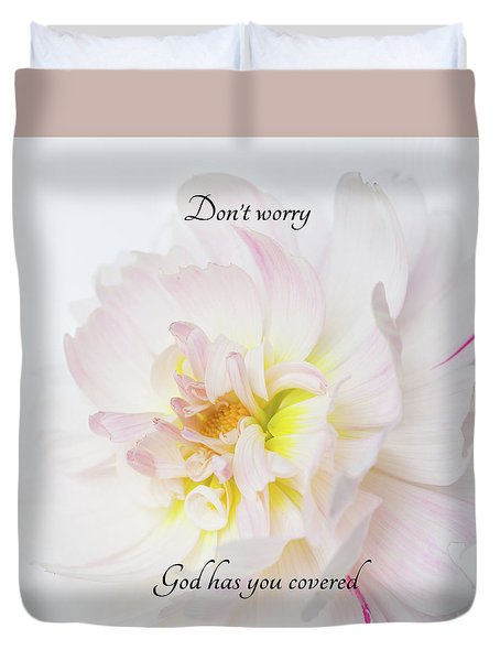 Don't Worry Square Duvet Cover