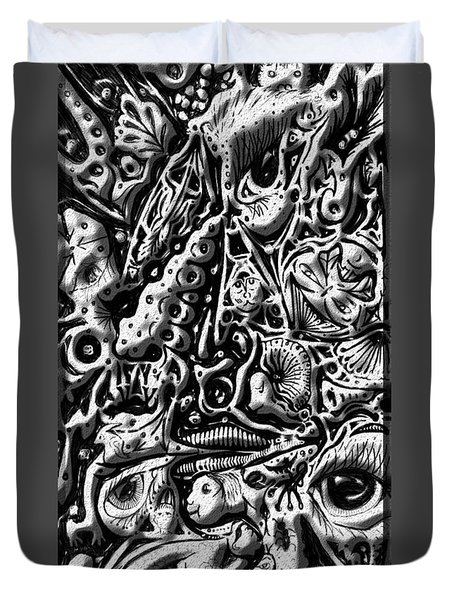 Doodle Emboss Duvet Cover by Darren Cannell