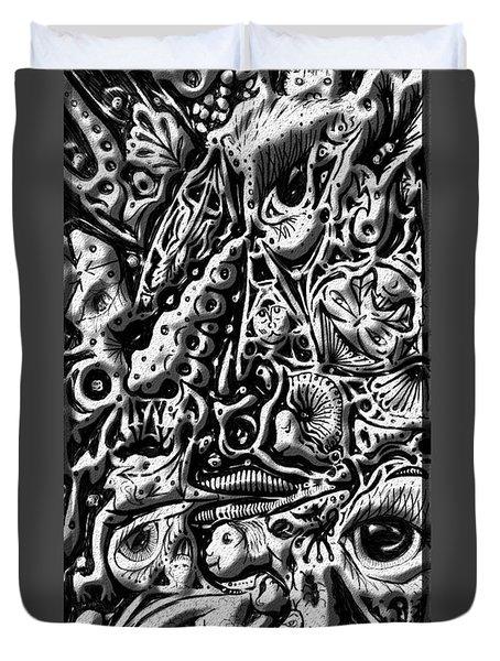 Doodle Emboss Duvet Cover