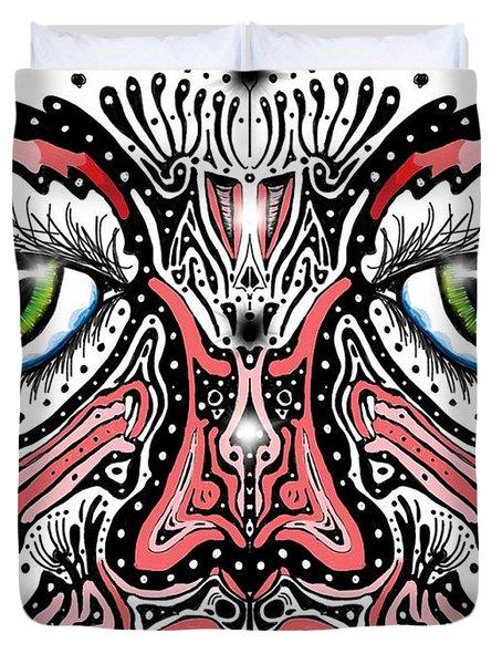 Doodle Face Duvet Cover