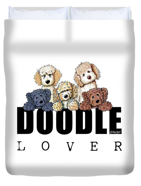 Doodle Lover Duvet Cover by Kim Niles
