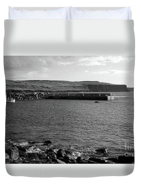 Doolin Harbour Duvet Cover