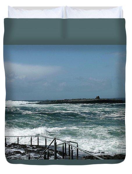 Doolin Waves Duvet Cover