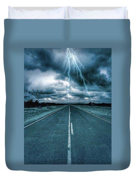 Doomsday Road Duvet Cover