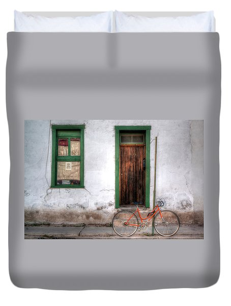 Door 345 Duvet Cover by Lynn Geoffroy