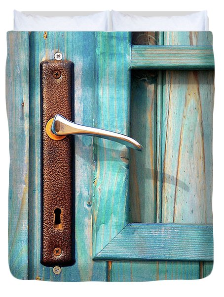 Door Handle Duvet Cover by Carlos Caetano
