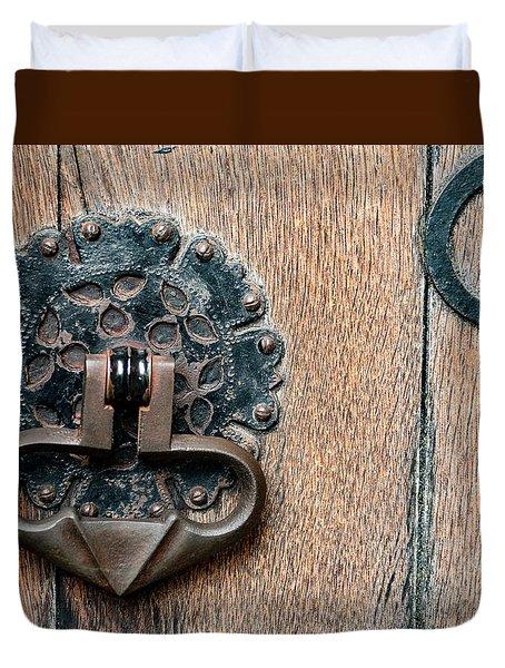 Door Knocker Duvet Cover