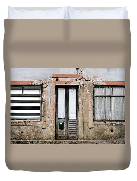 Duvet Cover featuring the photograph Door No 128 by Marco Oliveira