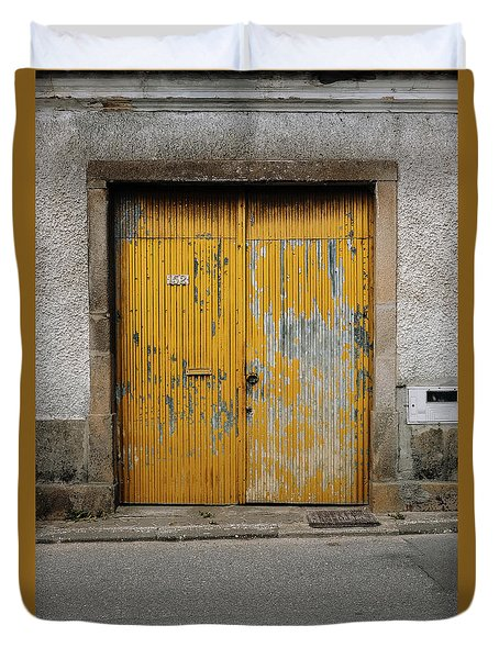 Duvet Cover featuring the photograph Door No 152 by Marco Oliveira
