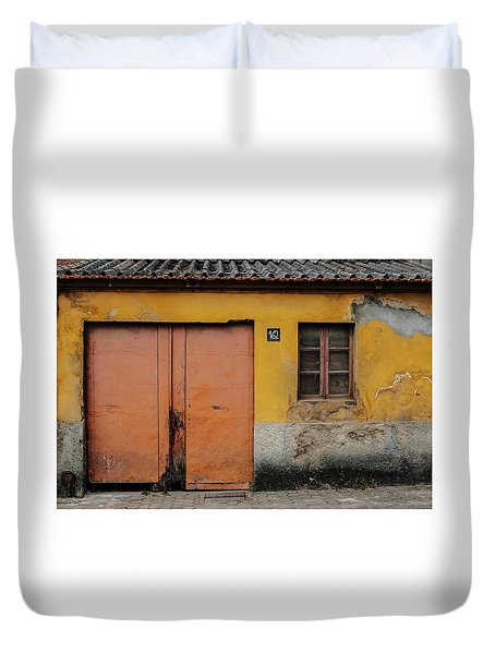 Duvet Cover featuring the photograph Door No 162 by Marco Oliveira
