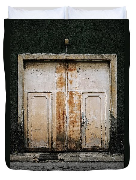 Duvet Cover featuring the photograph Door No 163 by Marco Oliveira