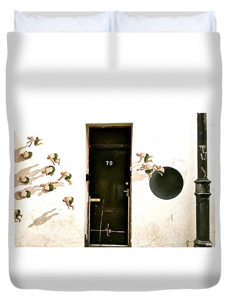 Door Seventy Street Art Duvet Cover