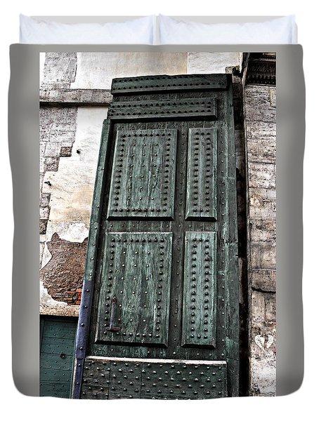 Door To The Roman Gateway Duvet Cover