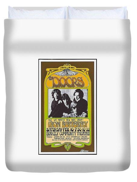 Duvet Cover featuring the photograph Doors/iron Butterfly Concert Poster by Allen Beilschmidt