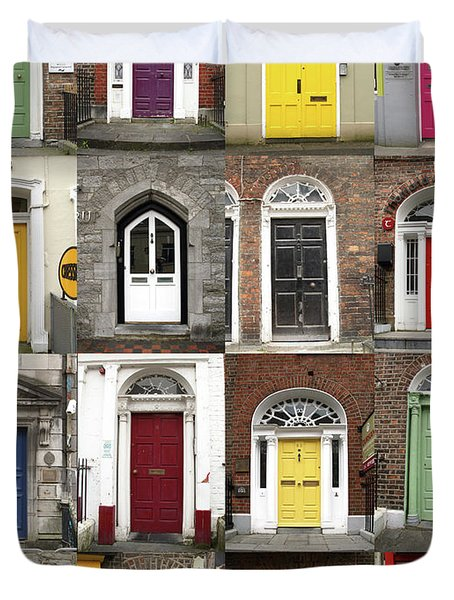 Doors Of Limerick Duvet Cover
