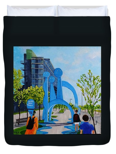 Toronto Canary District - Doors Open Toronto Duvet Cover