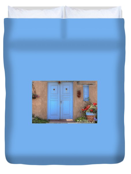 Doors, Peppers And Flowers. Duvet Cover