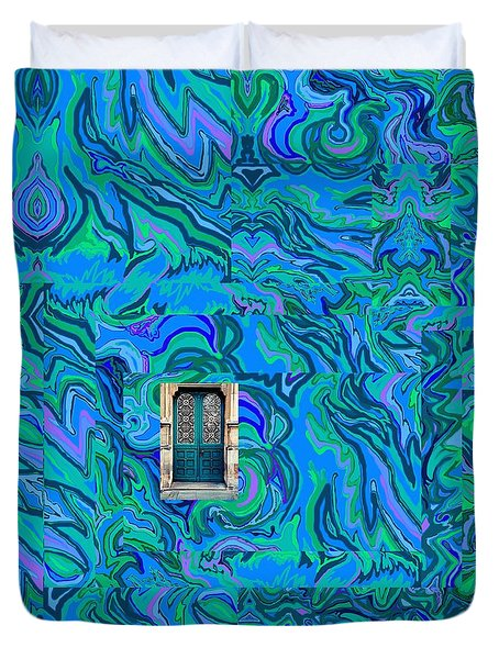 Doorway Into Multi-layers Of Water Art Collage Duvet Cover