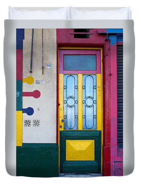 Doors Of San Telmo, Argentina Duvet Cover