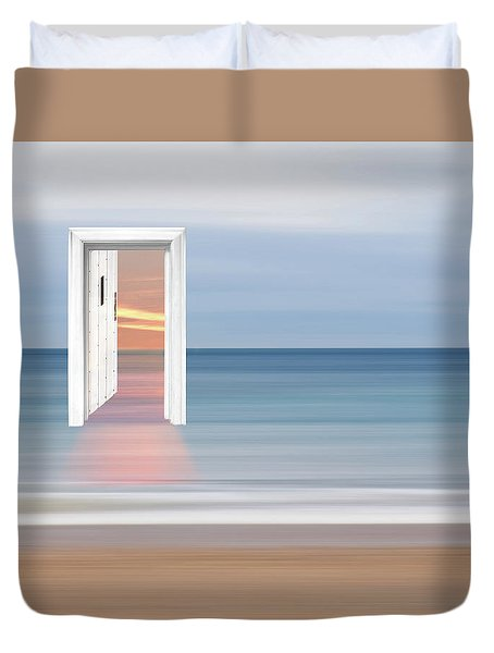 Doorway To The Future Duvet Cover by Gill Billington