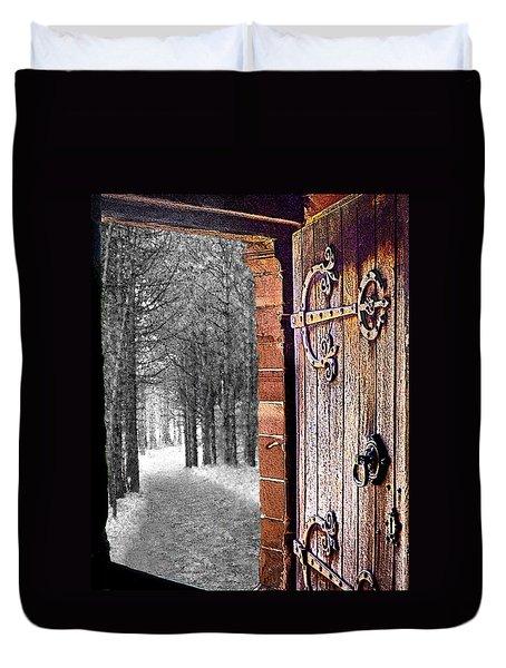 Doorway To Hadrian's Wood Duvet Cover