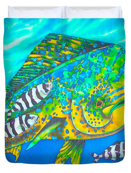 Dorado And Pilot Fish - Mahi Mahi Fish Duvet Cover