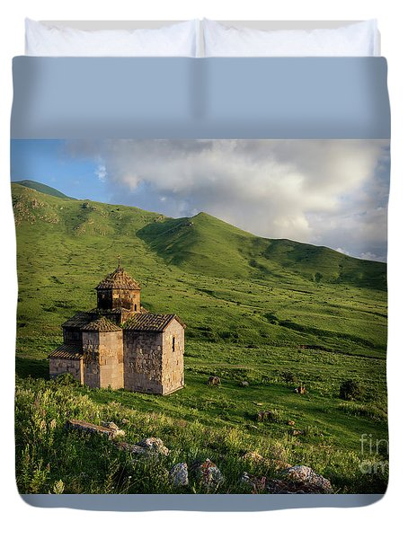 Dorband Monastery In The Field, Armenia Duvet Cover