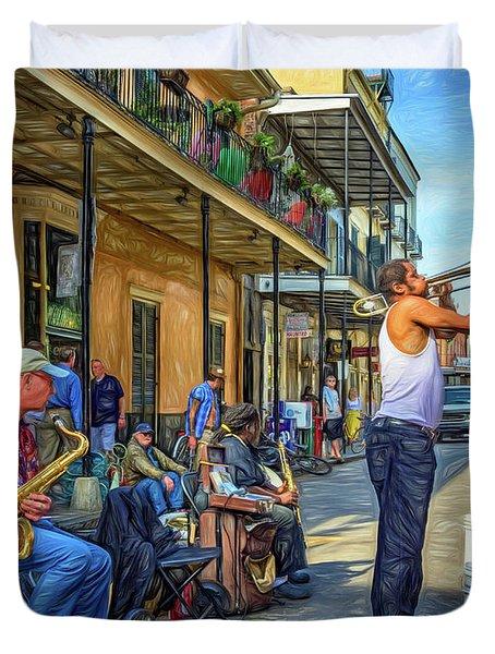 Doreen's Jazz New Orleans - Paint Duvet Cover