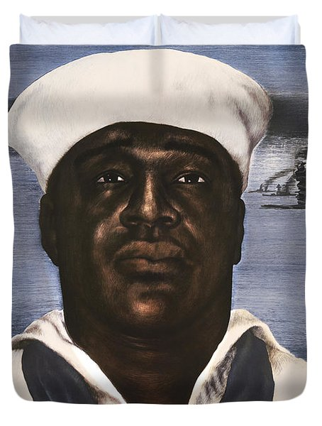Dorie Miller - Above And Beyond - Ww2 Duvet Cover