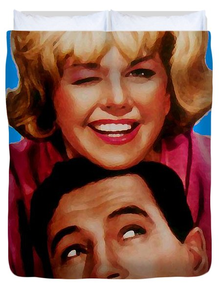 Doris Day Rock Hudson  Duvet Cover by Paul Van Scott