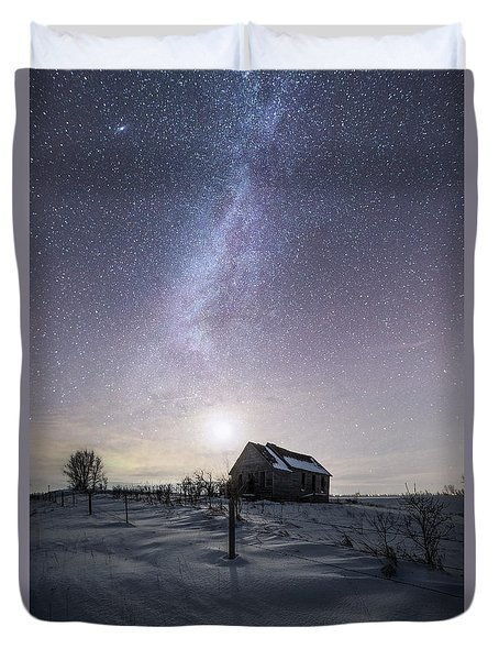 Duvet Cover featuring the photograph Dormant by Aaron J Groen