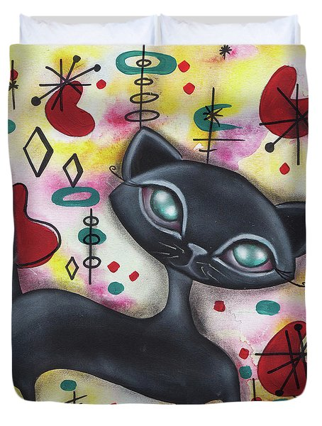 Dorothy Cat Duvet Cover by Abril Andrade Griffith