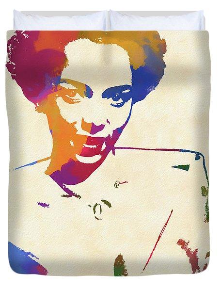 Dorothy Dandridge Watercolor Duvet Cover