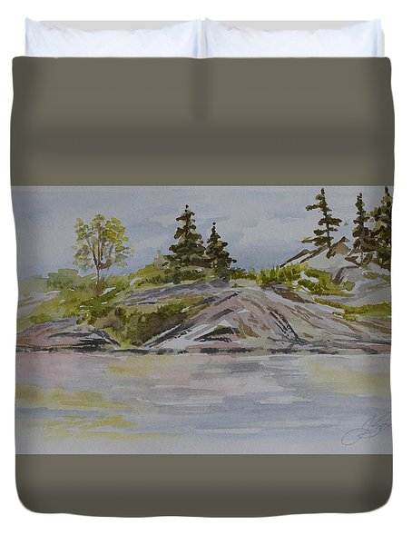 Dorothy Lake Island Duvet Cover by Joanne Smoley