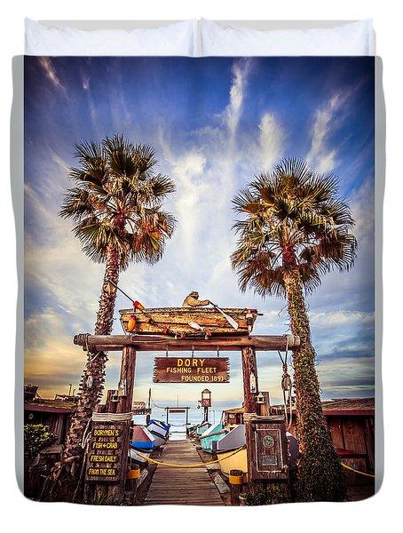 Dory Fishing Fleet Market Picture Newport Beach Duvet Cover by Paul Velgos