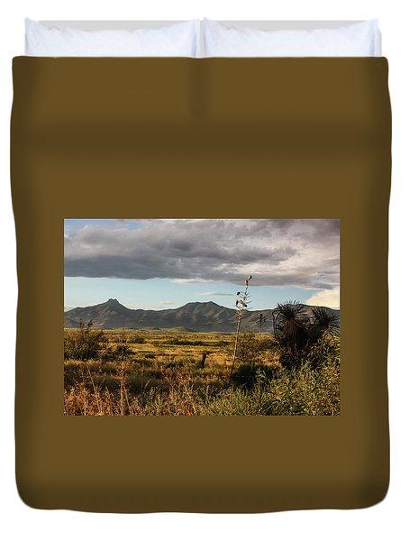 Dos Cabezas Grasslands At Dusk Duvet Cover