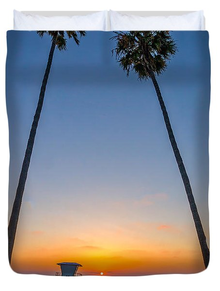 Dos Palms Duvet Cover