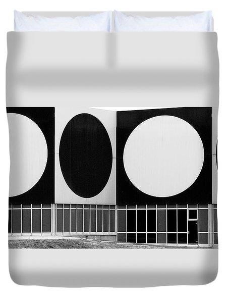 Dot Building Duvet Cover by Matthew Bamberg