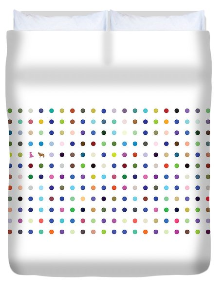 Dots And Dogs Duvet Cover